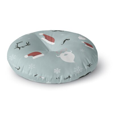 Louise Happy New Year! Christmas Santa Round Floor Pillow Size: 26 x 26
