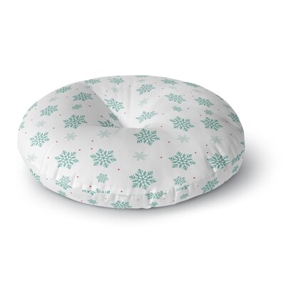 Louise Snow Round Floor Pillow Size: 23 x 23