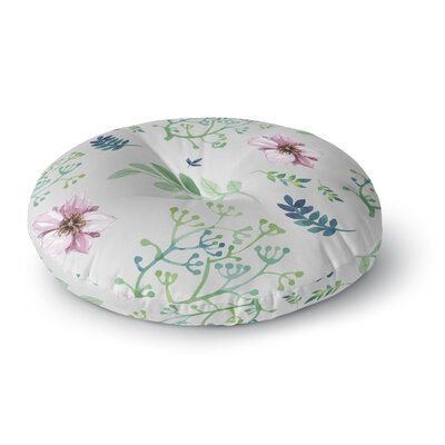 Louise Summer Flower Pattern Round Floor Pillow Size: 23 x 23
