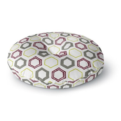 Laurie Baars Hexy Small Geometric Round Floor Pillow Size: 23 x 23