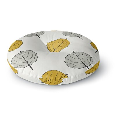 Laurie Baars 'Quaking Leaf' Round Floor Pillow Size: 23