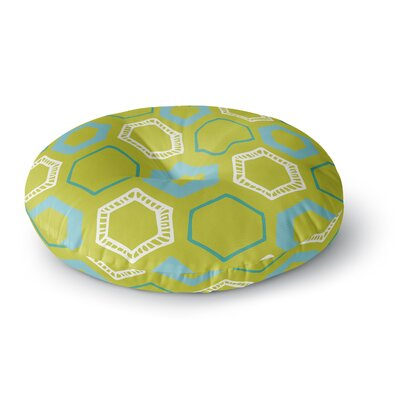 Laurie Baars Hexy Lime Round Floor Pillow Size: 26 x 26