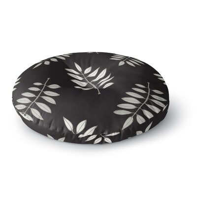 Laurie Baars 'Pagoda Leaf' Floral Illustration Round Floor Pillow Size: 23