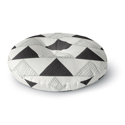 Laurie Baars Textured Triangles Geometric Abstract Round Floor Pillow Size: 23 x 23