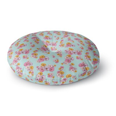 Laura Escalante Paper Flower Round Floor Pillow Size: 26 x 26