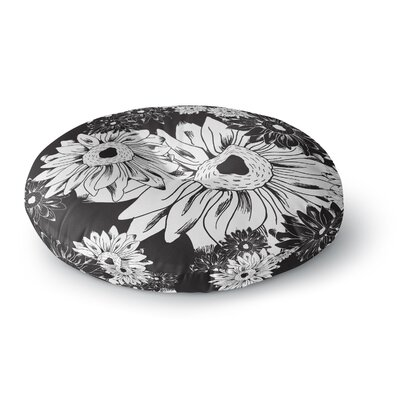 Laura Escalante Midnight Florals Sunflower Round Floor Pillow Size: 23 x 23