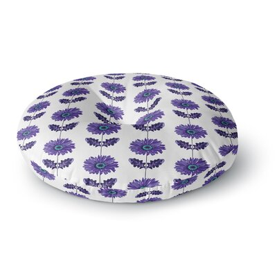 Laura Escalante Purple Gerbera Flower Round Floor Pillow Size: 23 x 23