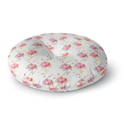 Laura Escalante Cross Stitch Flowers Round Floor Pillow Size: 26 x 26