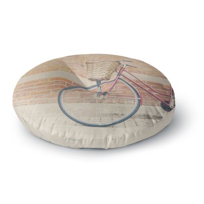 Laura Evans A Red Bicycle Round Floor Pillow Size: 23 x 23