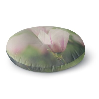 Laura Evans A Pink Magnolia Round Floor Pillow Size: 26 x 26