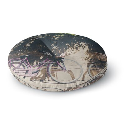 Laura Evans Pretty Bicycles Round Floor Pillow Size: 26 x 26