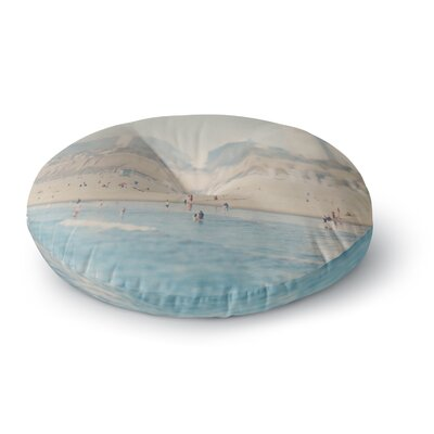 Laura Evans Santa Monica Beach Round Floor Pillow Size: 26 x 26