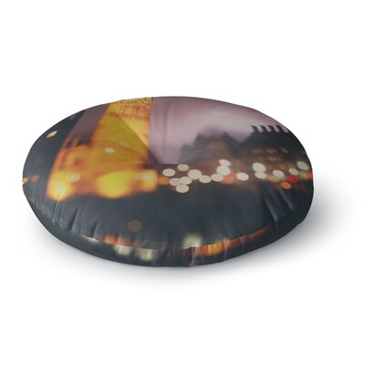 Laura Evans Westminster at Night Round Floor Pillow Size: 26 x 26