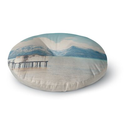 Laura Evans Down by the Lake Round Floor Pillow Size: 26 x 26