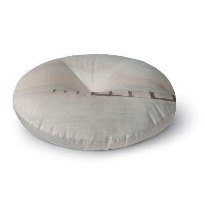 Laura Evans The Rising Tide Round Floor Pillow Size: 23 x 23