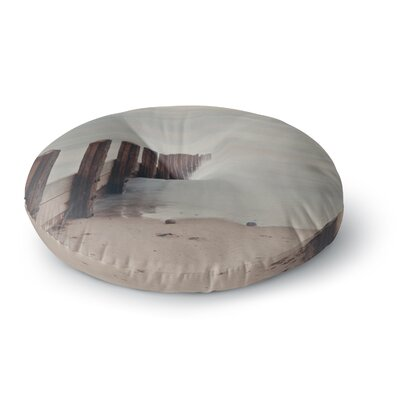Laura Evans Brush Strokes Round Floor Pillow Size: 23 x 23