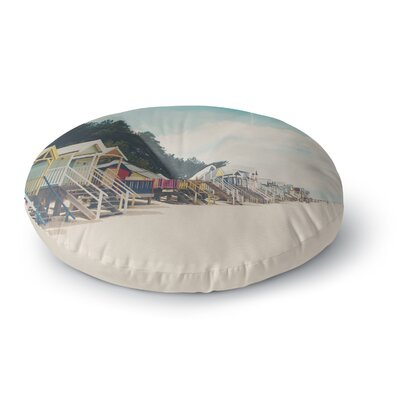 Laura Evans Small Spaces Beach Coastal Round Floor Pillow Size: 23 x 23