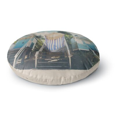 Laura Evans Wells Next the Sea Photography Round Floor Pillow Size: 26 x 26