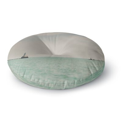 Laura Evans The Lighthouse Photography Round Floor Pillow Size: 23 x 23