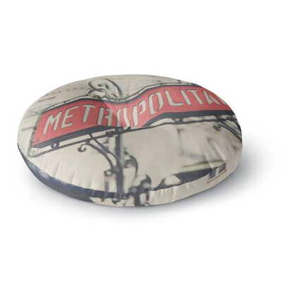 Laura Evans The Paris Metropolitan Photography Round Floor Pillow Size: 26 x 26