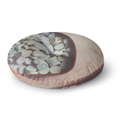 Laura Evans Love Hearts Photography Round Floor Pillow Size: 23 x 23