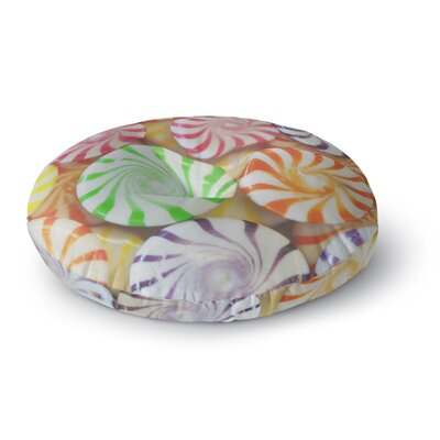 Libertad Leal I Want Candy Round Floor Pillow Size: 26 x 26