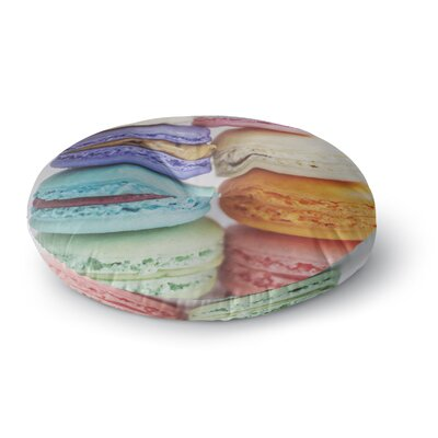 Libertad Leal 'I Want Macaroons' Round Floor Pillow Size: 26