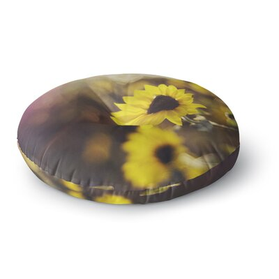 Libertad Leal Magic Light Flower Round Floor Pillow Size: 23 x 23