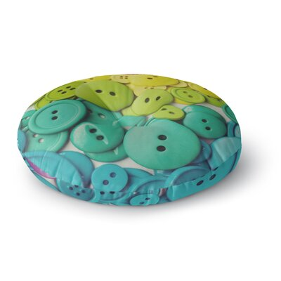 Libertad Leal Cute as a Button Round Floor Pillow Size: 26 x 26