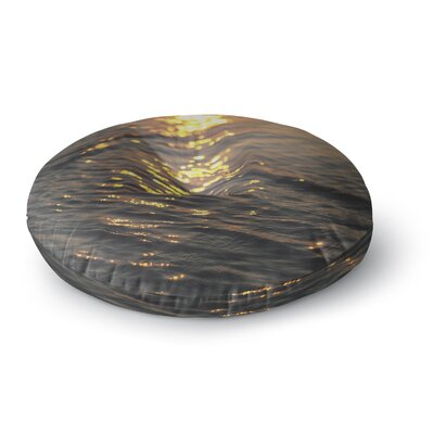 Libertad Leal Still Waters Sunset Round Floor Pillow Size: 26 x 26