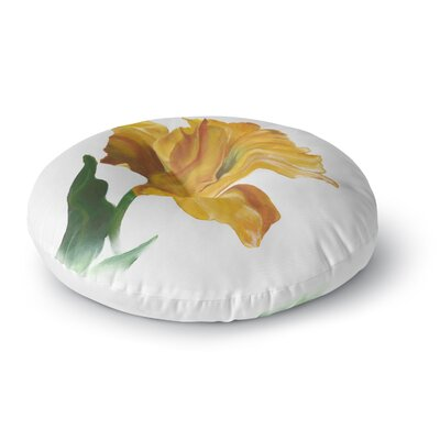 Lydia Martin Yellow Tulip Round Floor Pillow Size: 26 x 26