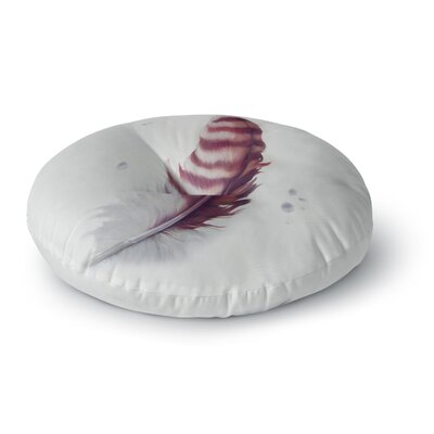 Lydia Martin The Feather Round Floor Pillow Size: 23 x 23