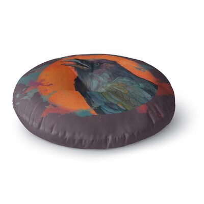 Lydia Martin Raven Sun Alternate Round Floor Pillow Size: 26 x 26