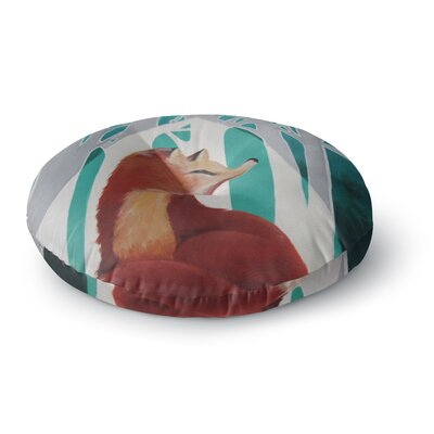 Lydia Martin Fox Forest Round Floor Pillow Size: 23 x 23