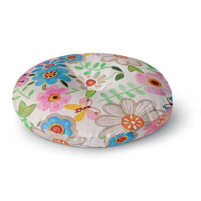 Louise Machado The Garden Round Floor Pillow Size: 26 x 26