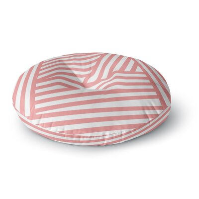 Louise Machado Rose Stripes Round Floor Pillow Size: 23 x 23