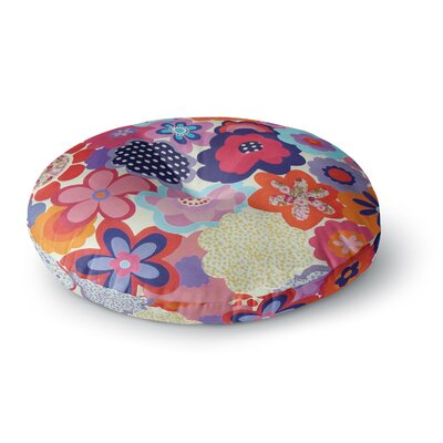 Louise Machado Patchwork Flowers Round Floor Pillow Size: 26 x 26