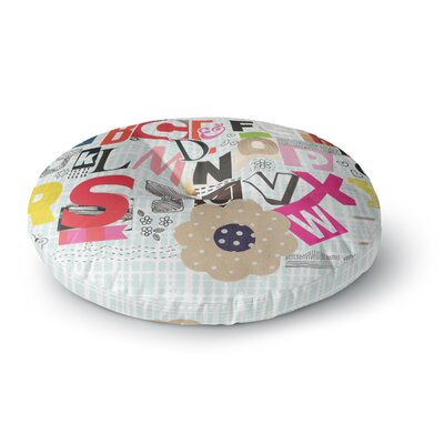 Louise Machado ABC Round Floor Pillow Size: 26 x 26