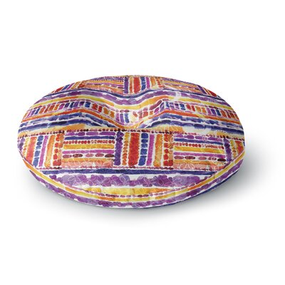 Louise Machado Tribal Round Floor Pillow Size: 23 x 23