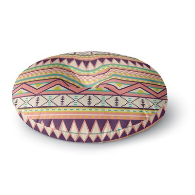 Louise Machado Ethnic Love Tribal Geometric Round Floor Pillow Size: 26 x 26