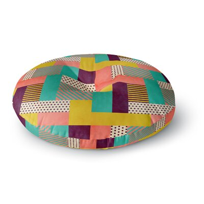 Louise Machado Geometric Love Abstract Round Floor Pillow Size: 23 x 23
