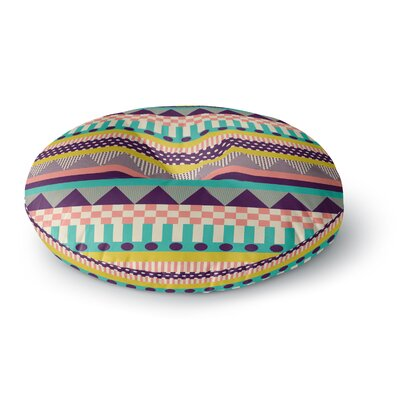 Louise Machado Decorative Stripes Round Floor Pillow Size: 23 x 23