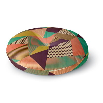 Louise Machado Geometric Love II Round Floor Pillow Size: 23 x 23