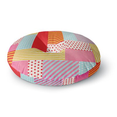 Louise Machado Geometric Pop Abstract Round Floor Pillow Size: 26 x 26