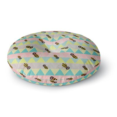 Louise Machado Little Bee Chevron Round Floor Pillow Size: 26 x 26