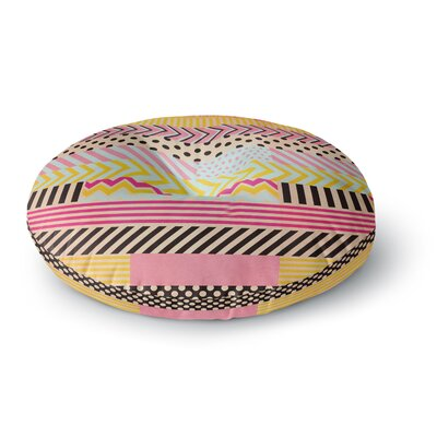 Louise Machado Decorative Tape Round Floor Pillow Size: 23 x 23