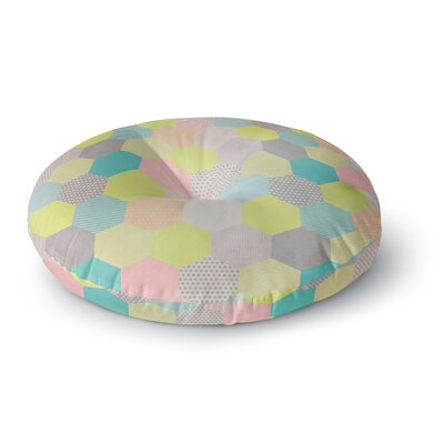 Louise Machado Pastel Hexagon Geometric Round Floor Pillow Size: 23 x 23
