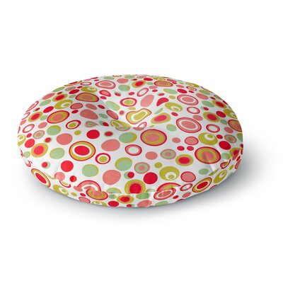 Louise Machado Bubbles Warm Circles Round Floor Pillow Size: 26 x 26