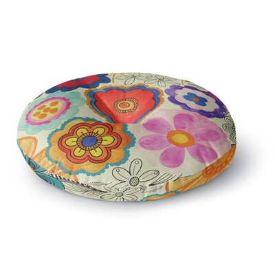 Louise Machado Charming Floral Floral Round Floor Pillow Size: 26 x 26