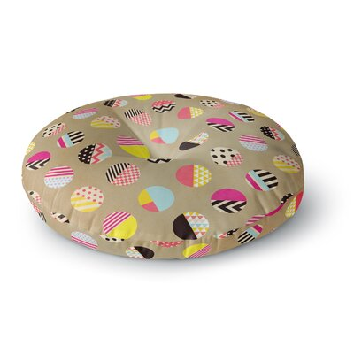 Louise Machado Fun Circle Geometric Round Floor Pillow Size: 26 x 26